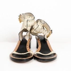 Isabel Marant -Jaeryn studded snake-effect leather